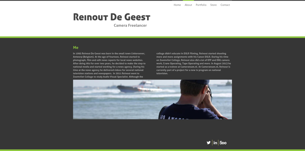 About - Reinout De Geest - DSLR Cinematographer