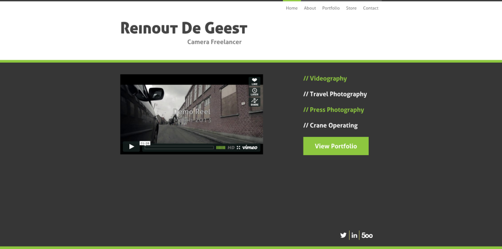 Home - Reinout De Geest - DSLR Cinematographer
