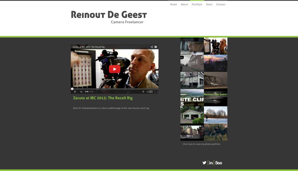 Portfolio - Reinout De Geest - DSLR Cinematographer