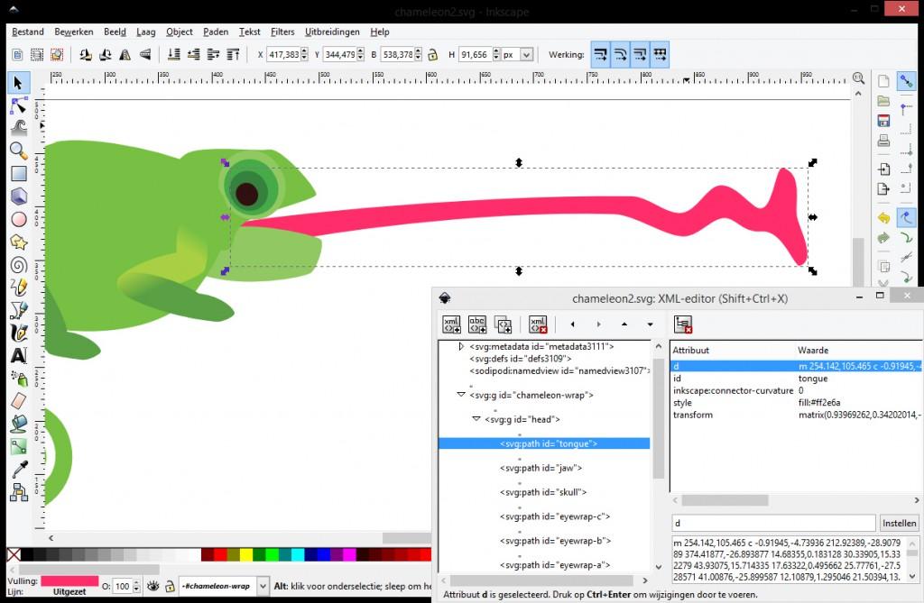 inkscape xml editor